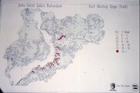 Iowa Great Lakes Watershed - East Okoboji Slope Study Map.