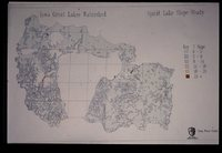 Iowa Great Lakes Watershed - Spirit Lake Slope Study Map.