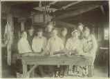 Dissection class with anatomy instructor Walter Fox, The University of Iowa, 1900s