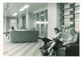 Studying in a Main Library lounge, the University of Iowa, May 15, 1951