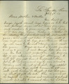 Civil War Letter of Mather Family member, 1862