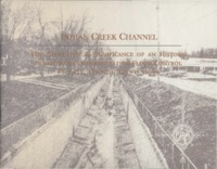 Indian Creek Channel: The evolution & significance of an historic public works administration flood control facility, Council Bluffs, Iowa.