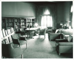 Reading room in the Iowa Memorial Union, the University of Iowa, 1950s?