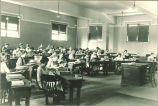 Students in lecture hall, The University of Iowa, 1920s?