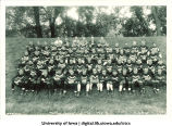 Football team and Coach Ingwersen, The University of Iowa, 1929