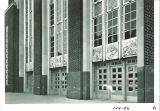 North-west angle of north entrance of the Main Library, the University of Iowa, 1950s