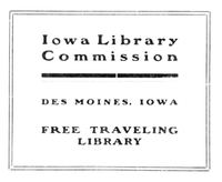 Iowa Library Commission bookplate
