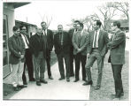 Iowa Writers' Workshop staff David Pryce Jones, R.V. Cassill, Robert Williams, Richard Yates, Paul Engle, Mark Strand, Eugene K. Garber, George Starbuck and Frederic Will, The University of Iowa, mid-1960s