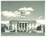 West portico and terrace of Old Capitol, The University of Iowa, 1970s