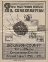 Dickinson County Soil Conservation District Annual Report - 1996-97.