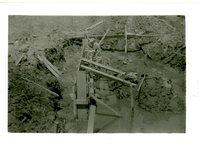 Warren Langwith drop spillway construction, 1958