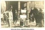 Mechanical device on display for Mecca Day, The University of Iowa, 1918