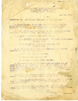 Surrender memorandum to all Filipino Officers and Enlisted Men.