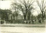 SATC band performing on the Pentacrest, The University of Iowa, November 11, 1918