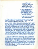 Letter replying to Major Juan D. Vallejos.