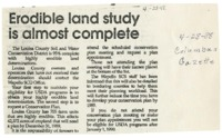 Erodible Land Study Almost Complete