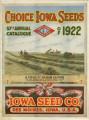 Iowa Seed Company Catalog 1922