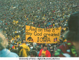 Sign at Rose Bowl, Pasadena, California, Jan.1, 1982