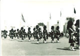 Scottish Highlanders marching, The University of Iowa, 1960s?