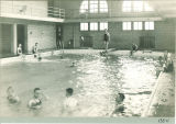 Swimming class in Old Armory, The University of Iowa, 1910s