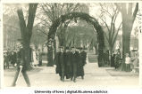 Thomas H. Macbride and Walter A. Jessup on Inauguration Day, The University of Iowa, May 12, 1917