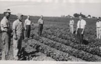 Group of Men Examine George Putney's Farm.