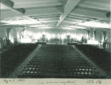 Main Lounge in Iowa Memorial Union set up for orchestra concert, the University of Iowa, April 1957