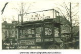 Concession stand in Mecca Day parade, The University of Iowa, 1920
