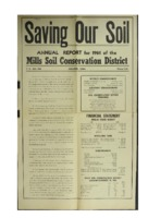 0172.   Saving Our Soil: Annual Report for 1961 of the Mills Soil Conservation District