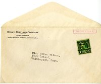 Henry Holt and Company Publishers envelope to Helen Patricia (Patsy) Wilson exchanging bookplates.