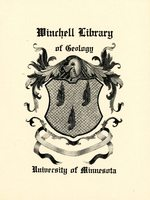 University of Minnesota Winchell Library of Geology Bookplate