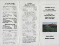 Cherokee County Soil Conservation District Annual Report - 2004-2005