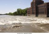 Iowa River flooded, The University of Iowa, June 16, 2008