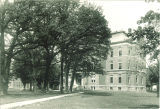 Northeast view of Calvin Hall on the Pentacrest, the University of Iowa, between 1900 and 1905