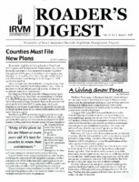 Roader's Digest: Newsletter of Iowa's Intergrated Roadside Vegetation Management Program