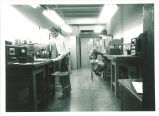 Physics students and scientific equipment, The University of Iowa, May 1962
