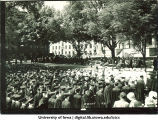 Commencement on the Pentacrest, The University of Iowa, June 1931