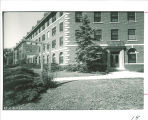 Currier Hall north entrance, The University of Iowa, 1940s?