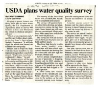 USDA Plans Water Quality Survey