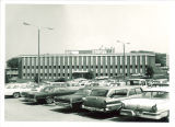Parking lot at Westlawn, The University of Iowa, 1960s