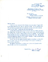 Letter to the mayor of Puerto Princesa, Palawan, Philippine Islands.