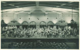 Summer session orchestra with violin soloist in Iowa Memorial Union, The University of Iowa, 1936
