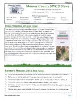 Monroe County SWCD newsletter, 2016