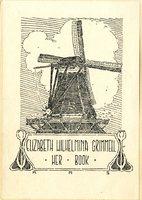 Elizabeth Wilhelmina Grimmell Bookplate