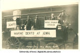 Mecca Day parade float, The University of Iowa, 1916