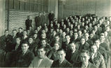 Pharmacy students and professors, The University of Iowa, 1930s