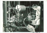Engineering students in shop, The University of Iowa, August 1941