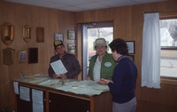 Milton and Larry Wurth in the SWCD office.