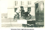 Dental float in Mecca Day parade, The University of Iowa, 1921