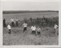 Men Inspect Field at Dean Ohnemus' Farm.